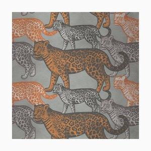 Decorazione da parete Walking Leopards 2 in tessuto di Chiara Mennini per Midsummer-Milano