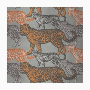 Walking Leopards 2 Fabric Wall Covering by Chiara Mennini for Midsummer-Milano