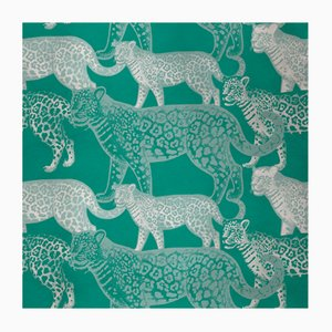 Walking Leopards 3 Fabric Wall Covering by Chiara Mennini for Midsummer-Milano