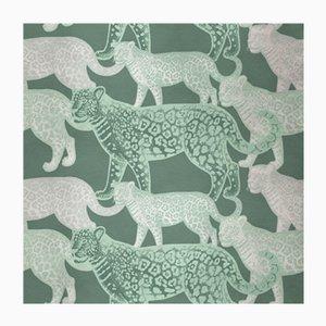 Walking Leopards 4 Wandverkleidung mit Stoffbezug von Chiara Mennini für Midsummer-Milano