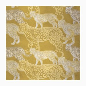Walking Leopards 5 Fabric Wall Covering by Chiara Mennini for Midsummer-Milano