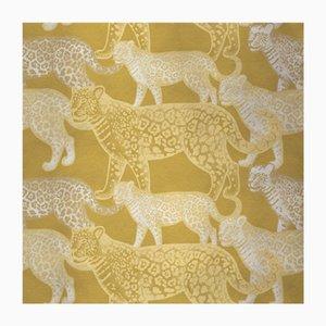 Walking Leopards 5 Wandverkleidung mit Stoffbezug von Chiara Mennini für Midsummer-Milano