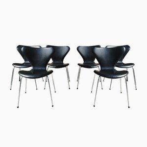 Vintage Modell 3107 Stühle von Arne Jacobsen für Fritz Hansen, 6er Set