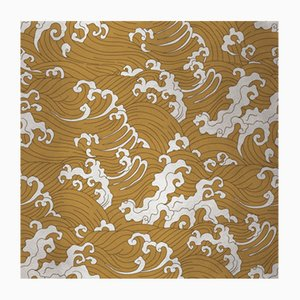 Cubierta mural de tela con olas 2 de Chiara Mennini para Midsummer-Milano