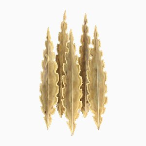 Brutalist Wall Sconce in Brass by Svend Aage Holm Sørensen, 1960s