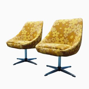 Flower Power Cocktail Chairs, 1970s, Set of 2 + crate