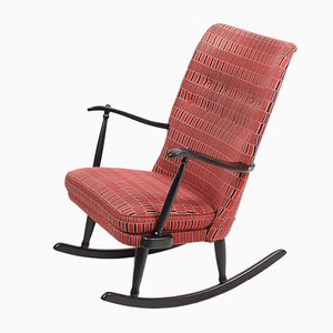 Mid-Century Swedish Woolen Rocking Chair from Engen, 1960s