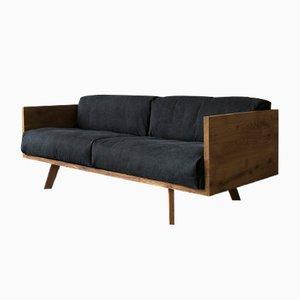 Sofá de roble y lino de Philipp Roessler para NUTSANDWOODS