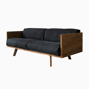 Oak & Linen Sofa by Philipp Roessler for NUTSANDWOODS