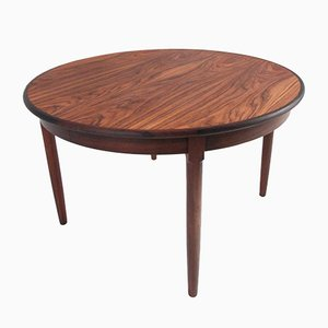 Round Mid-Century Danish Rosewood Dining Table