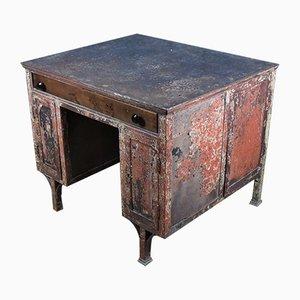 Industrieller Vintage Schreibtisch aus Stahl, 1950er