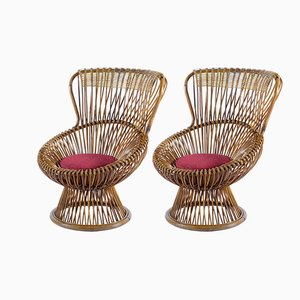 Margherita Lounge Chairs by Franco Albini for Bonacina, 1950s, Set of 2