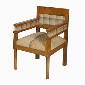 Vintage Olive Wood Country Armchairs, 1920s, Set of 2