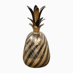 Recipiente a forma di ananas di Maison Jansen, anni '60