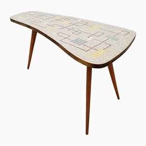 Kidney-Shaped Mosaic Coffee Table, 1950s