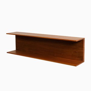 Mid-Century Teak Wall Shelf by Walter Wirz for Wilhelm Renz