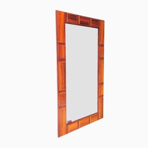 Vintage Glass & Wood Mirror from GT Atalje, 1950s