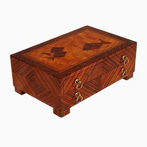 Mid-Century Italian Wooden Jewelry Box from Ebanisteria Ferrarese, 1940s