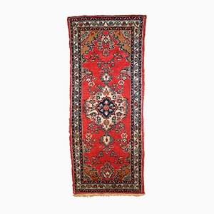 Vintage Handmade Middle Eastern Hamadan Runner, 1960s