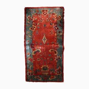 Handgemachter chinesischer Vintage Art Deco Teppich, 1920er