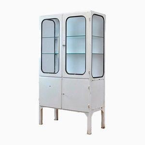 Mueble médico vintage de hierro y vidrio, 1975