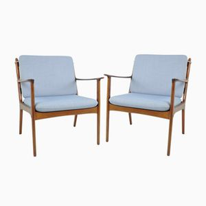 Easy Chairs by Ole Wanscher for Poul Jeppesens Møbelfabrik, 1960s, Set of 2