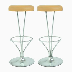 Bar Stools by Piet Hein for Fritz Hansen, 1960s, Set of 2