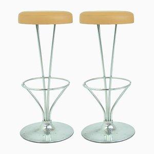 Bar Stools by Piet Hein for Fritz Hansen, 1960s, Set of 2