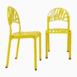 Hello There Stühle aus Aluminium von Jeremy Harvey für Artifort, 1970er, 2er Set