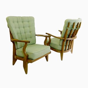 Grand Rest Armchairs by Guillerme et Chambron, 1960s, Set of 2