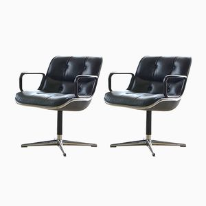 Desk Chairs by Charles Pollock for Knoll Inc., 1960s, Set of 2