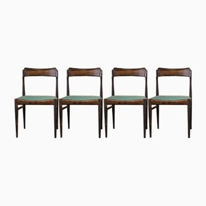 Danish Palisander Dining Chairs, 1960s, Set of 4