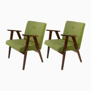Grüne Sessel im dänischen Stil, 1960er, 2er Set
