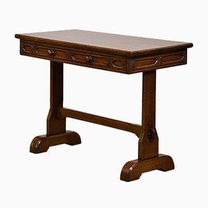 Petite Table de Bureau Style Néo-gothique en Chêne, 1920s