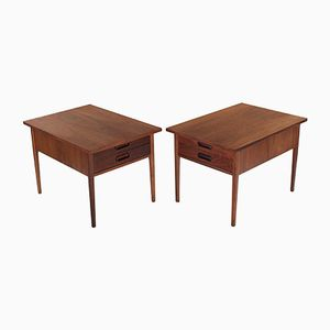 Walnut Side Tables by Jack Cartwright for Founders, 1960s, Set of 2