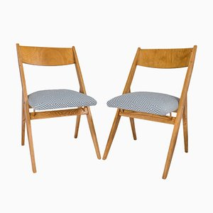 Polish Chairs by Czesław Knothe for RZUT Cooperative, 1960s, Set of 2