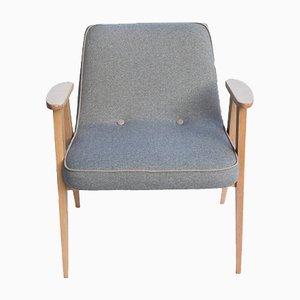 Vintage No. 366 Armchair by Jozef Marian Chierowski for Dolnośląska Fabryka Mebli