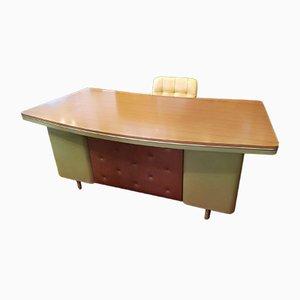 Vintage Schreibtisch aus Metall von Castelli, 1950er
