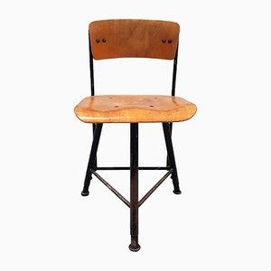 Chaise d'Atelier Hauteur Ajustable, 1950s