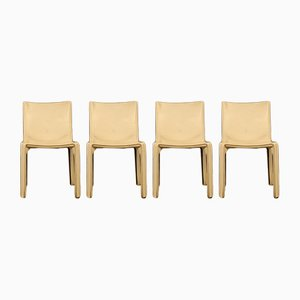 412 Cab Chairs by Mario Bellini for Cassina, 1977, Set of 4