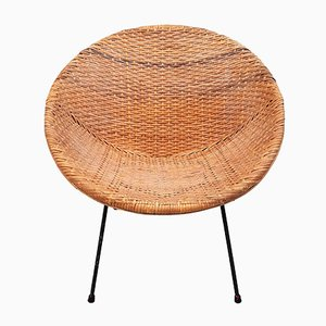 Mid-Century Wicker Chair
