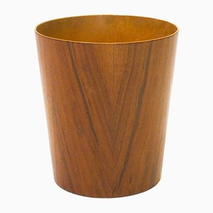 Wastebin in Teak and Birch by Martin Åberg for Servex, 1950s