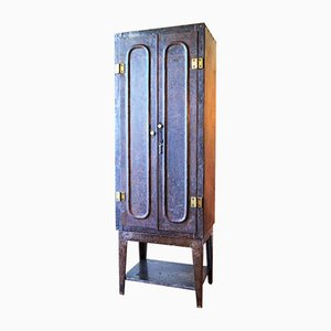 Antique Industrial Metal Cupboard