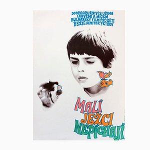 Affiche de Film Hedgehogs Are Born Without Spines Vintage par Olga Franzová, 1971