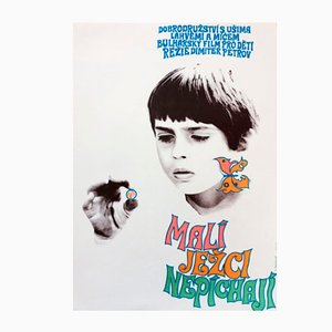 Vintage Hedgehogs Are Born Without Spines Movie Poster by Olga Franzová, 1971