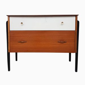 Mid-Century Danish Walnut & Teak Chest of Drawers