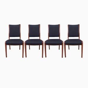 Skandinavische Mid-Century Esszimmerstühle aus Teak von G-Plan, 4er Set