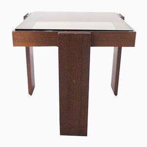Tavolini da caffè modulari impilabili in legno massiccio di Gianfranco Frattini per Cassina, 1965, set di 4