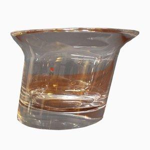 Vase en Verre de Cristal par Angelo Mangiarotti pour Cristalleria Colle, 1980s