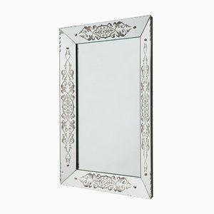 Französischer Art Deco Spiegel mit Rahmen mit konischen Kanten